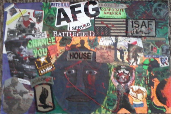 PTSD art collage