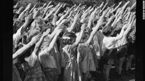 Bellamy salute in Connecticut school