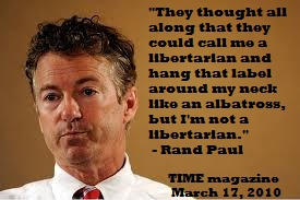 Rand Paul not libertarian