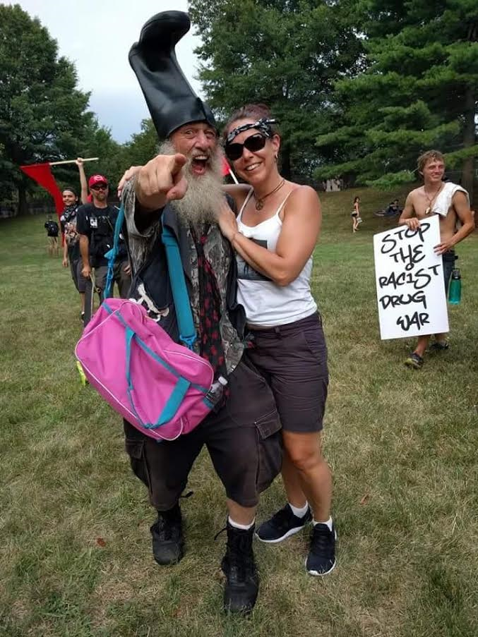The author with The People's Candidate, Vermin Supreme